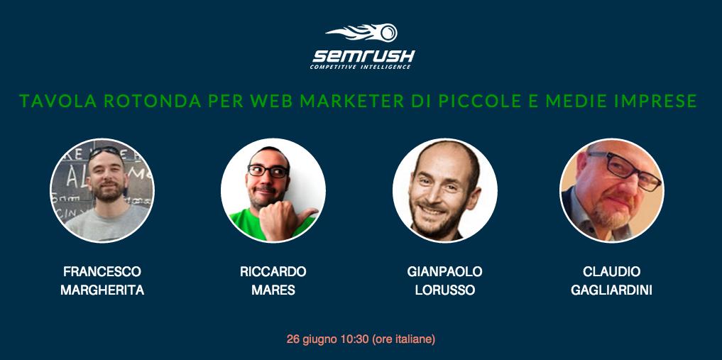 SEMrush: Web marketing per le PMI: tavola rotonda immagine 1
