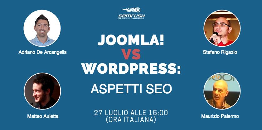 Joomla! vs WordPress: aspetti SEO [tavola rotonda]