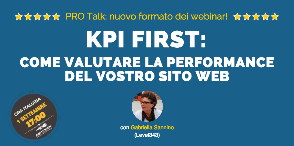 SEMrush: KPI First: come valutare la performance del vostro sito web immagine 1