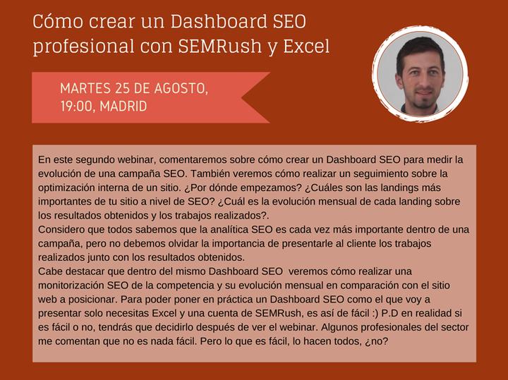 SEMrush: Cómo Crear un Dashboard SEO Profesional con SEMrush y Excel  imagen 1