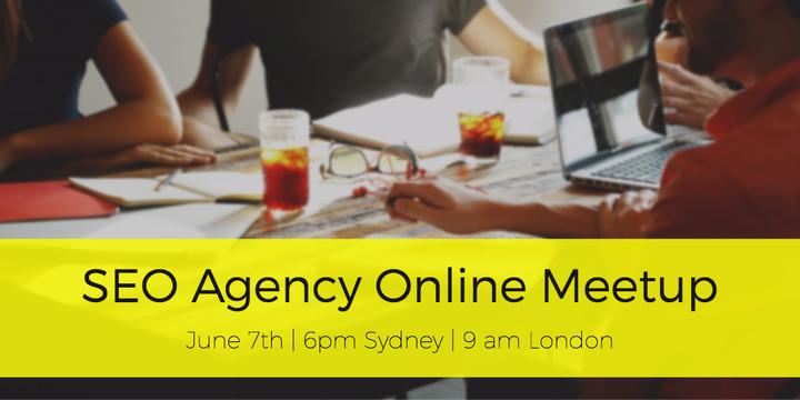 SEO Agency Online Meetup