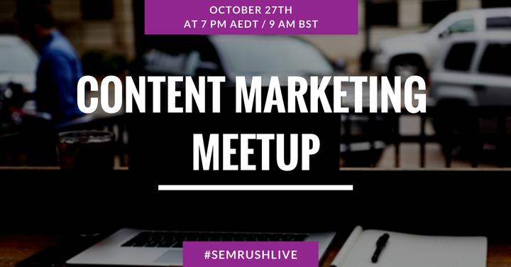 Content Marketing Meetup
